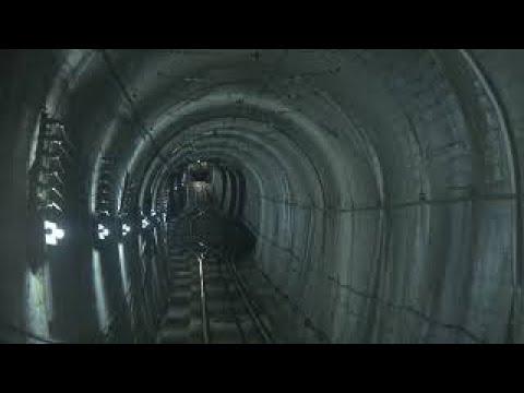 黒部ケーブルカーのトンネル